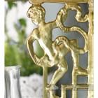 Polished brass cherub Wall bracket close up