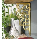 Polished Brass Climbing Man Design Bracket 25 x 12cm