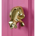 Pink Door With Frog Door Knocker Installed
