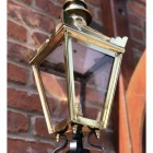 Close-up of the Polished Brass Finish on the Harrogate Wall Lantern