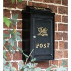 """Draig"" Polished Brass Welsh Dragon Wall Mounted Post Box"