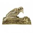 Polished Brass Woodpecker Door Knocker
