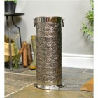 """Rosecroft Manor"" Ornate Umbrella Stand Finished in an Antique Nickle"