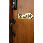 Solid brass Private sign