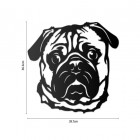 Metal Pug Wall Art to Scale