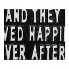 """Quirky """"Ever After"""" Iron Sign in Black Close-Up"""