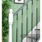 """Rabanne"" Stainless Steel Stair Spindle in Situ on a Stair Case"