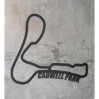 Cadwell Park Race Track Wall Art on a Rustic Grey Wall