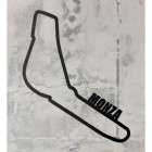 Monza Race Track Wall Art on a Rustic Grey Wall