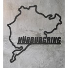 Nürburgring Race Track Wall Art on a Rustic Grey Wall