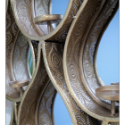 Close-up of the Gold Ornate Pattern on the Mirror