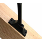Rake bracket fitted to stair