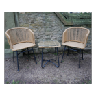 Rattan Table & Chair Set Outside