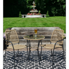 Rattan Table & Chair Set on the Patio