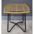 Coffee Table Finish in Rattan and Metal