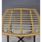 Close-up of the Rattan Table