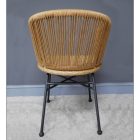 View of the Back of the Curved Chair
