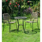 Brown Rattan & Iron Table & Chair Set in Situ i the Garden