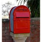 Red & Black Grosvenor Telescopic Post Box