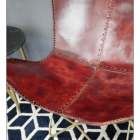 Close-up of the Red Finish on the Seat of the Chair