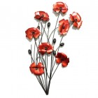 Poppy Wall Art in Red