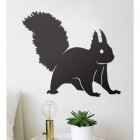 Red Squirrel Wall Art in Situ