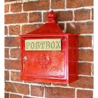 Red The Suffolk Post or Parcel Box