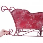 Vintage Red Sleigh Planter