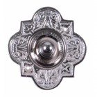 'Regent Hill' Ornate Bright Chrome Bell Push