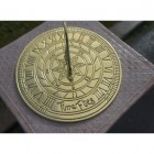 Polished Brass 'Time Flies' Sundial - 200mm