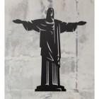 """Rio De Janeiro """"Christ Redeemer"""" Wall Art on a Rustic Grey Wall"""