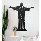 """Rio De Janeiro """"Christ Redeemer"""" Steel Wall Art in a Modern Home"""