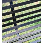 Metal Slats on the Seat of the Bench