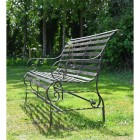 """Side View of the """"Chatham""""  Park Bench in Situ in Garden"""