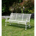 """""""Chatham"""" Park Bench Finished in Cream"""