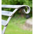 """Scroll Design on the Robust """"Chatham"""" Park Bench - Grey"""