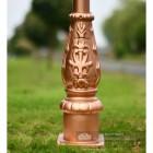 Rose Gold Cast Iron Lamp Post Base