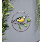 Hand Painted Blue Tit Wall Art in Situ