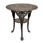 Round Cast Iron Victorian Table in a Rustic Finish