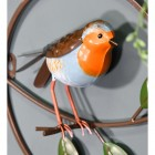 Hand Painted Robin on the Wall Art