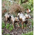 Running Rabbit Sculpture Finished in Bronze