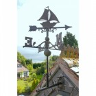 Rustic Sail Boat Weathervane in Situ