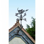 Standard Rustic Cat & Mouse Weathervane in Situ