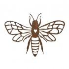 Rustic Bee & Heart Wall Art