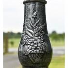 Rustic Black Cast Iron Gothic Lamp Post Column