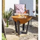 Rustic Fire Bowl in Situ in the Garden