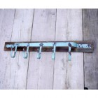 Rustic Blue Antique Coat Rack