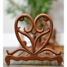 Rustic Brown Cast Iron Shoe Rack With Heart Ends