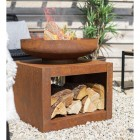 Rustic Firepit Created from Iron and Steel