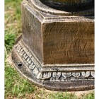 Rustic Gold Rub Cast Iron Lamp Post Base